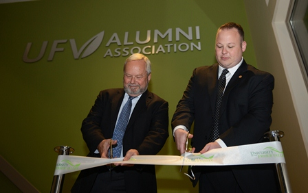 Alumni Hall ribbon cutting