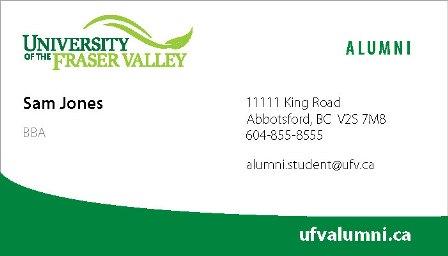 Alumni Business card