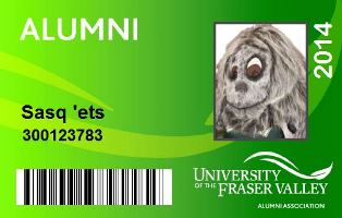 Sample Alumni Membership Card