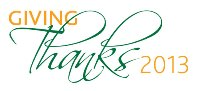 Giving Thanks 2013 - wordmark