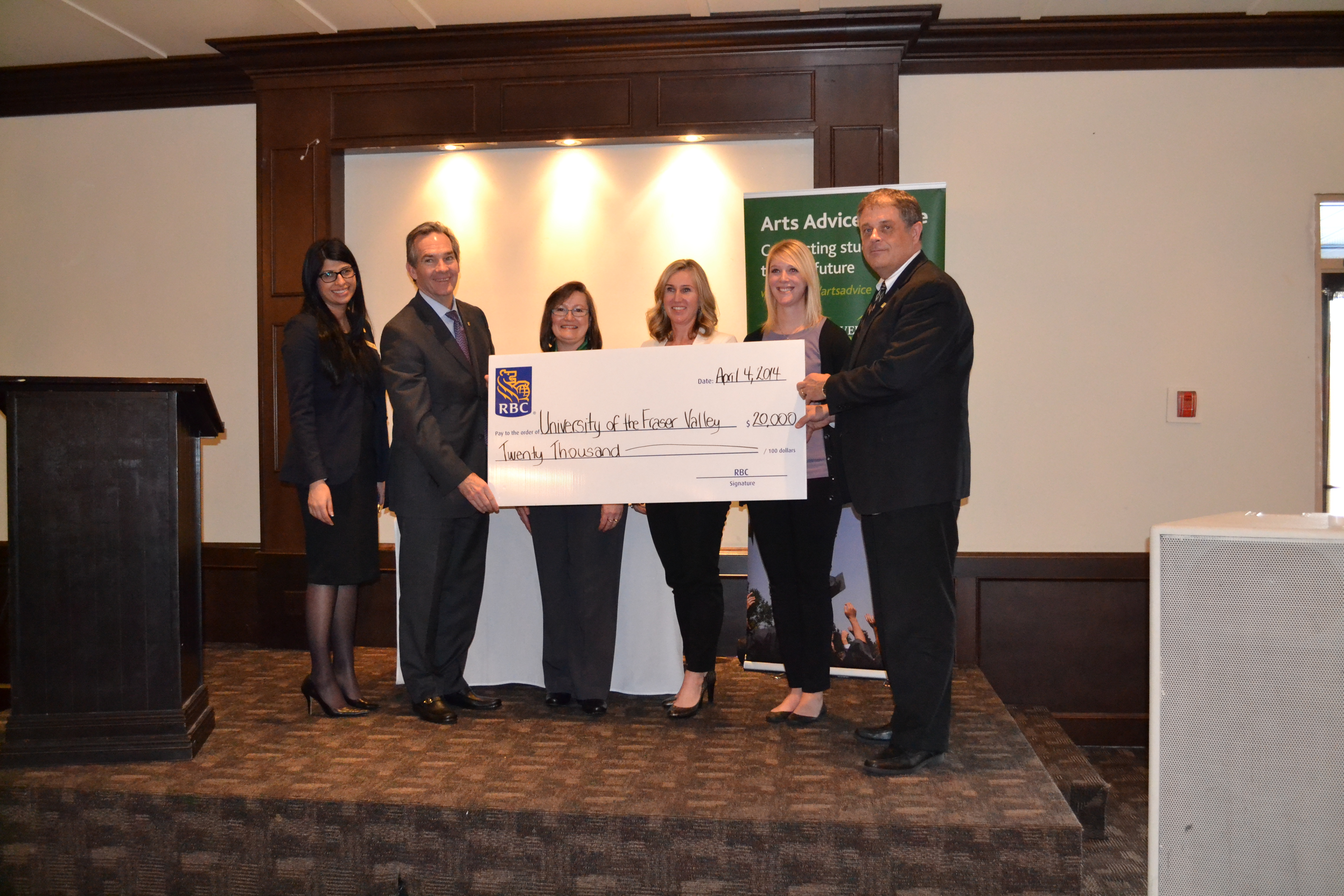 RBC Cheque 2014 Arts Peer mentor