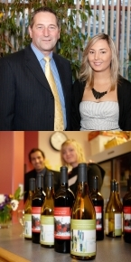 Top: Tony Luck with Tara-Lynn Kozma-Perrin Bottom: 2011 Commemorative wine