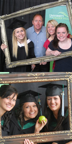 Lots of props to choose from at the Convocation 2011 photo booth