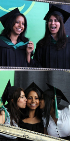 Happy grads at Convocation 2011