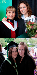 Top: RCMP members wore their dress uniform to graduate Bottom: Grads celebrated with friends and family