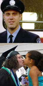Top: Brent Newman, BA '96. Bottom: Convocation congratulations